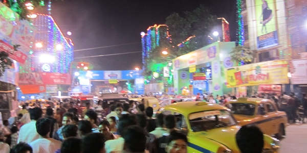North Calcutta Durga Pujo Crowd